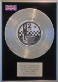 "THE SPECIALS - 7"" Platinum Disc - GHOST TOWN ( 2 TONE )"